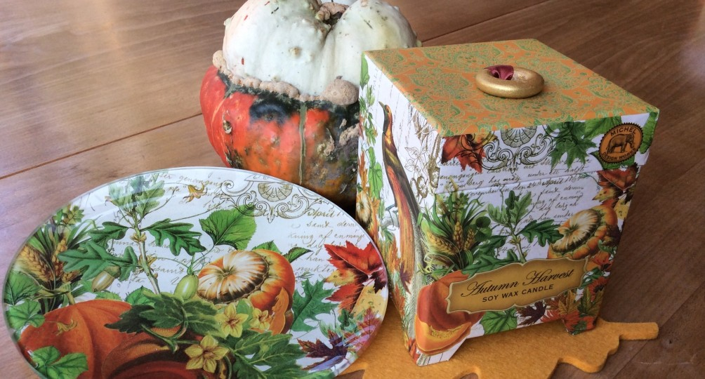 Herbst Kürbis auf Teller - Feine Geschenke