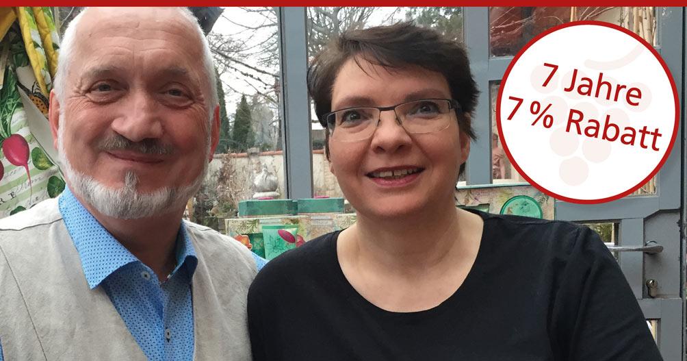 Dagmar und Heribert feiern sieben Jahre Feine Kost