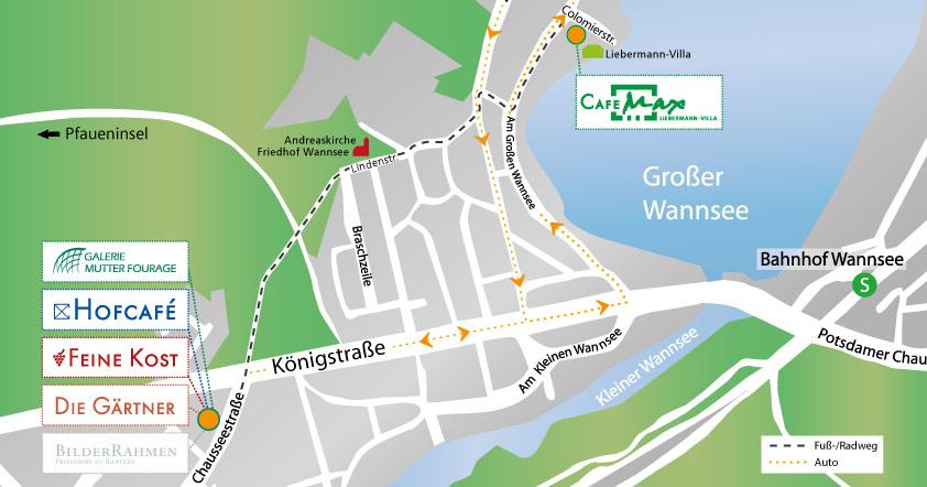 Lageplan Region Wannsee