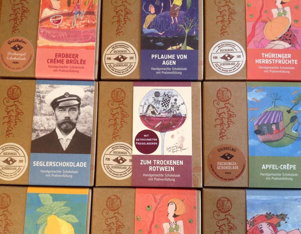 Gefüllte Schokolade von Goldhelm