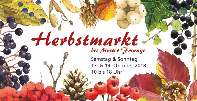 Postkarte Hofcafé Herbstmarkt 2018