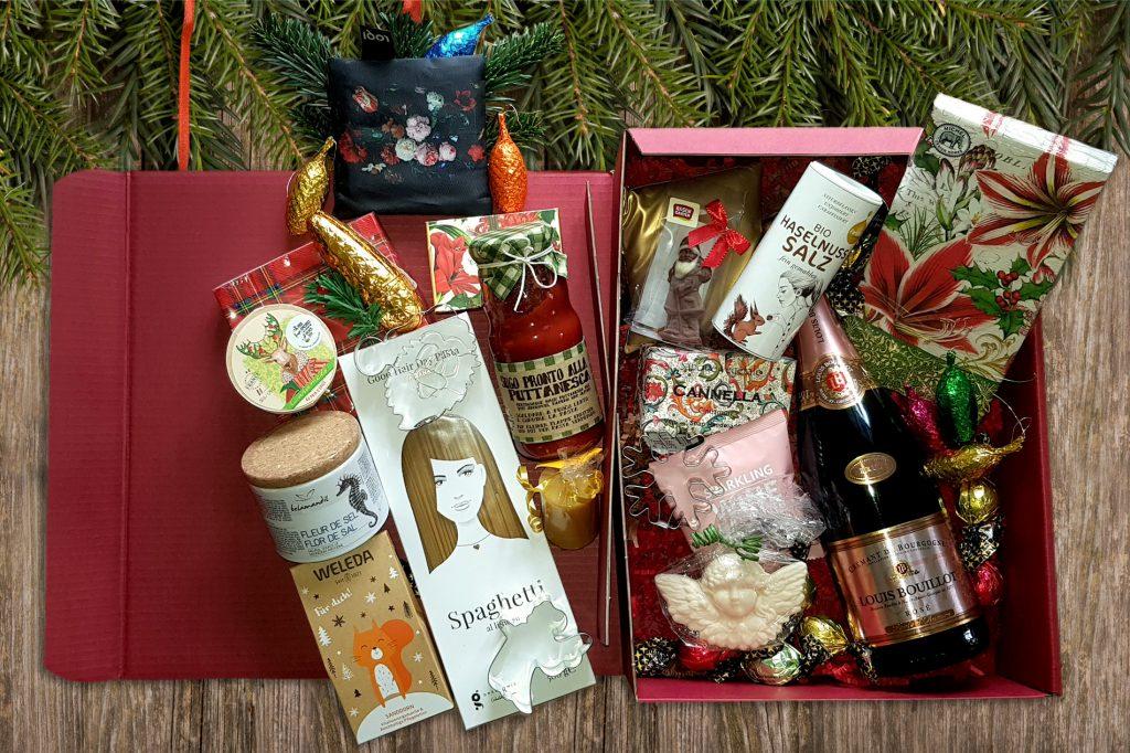Präsentkorb mit vielen Geschenken