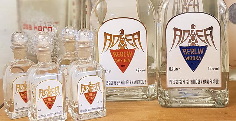 Adler Berlin Gin und Wodka