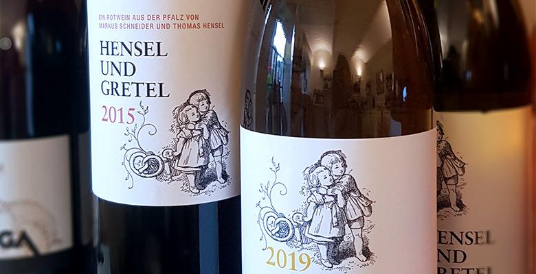 Slider Rotwein Weißwein aus der Pfalz Hensel und Gretel
