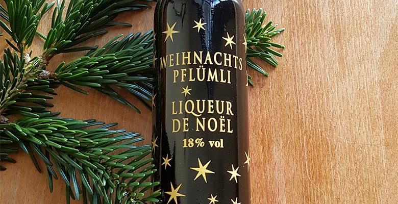 Weihnachts-Pflümli Liqueur de Noel