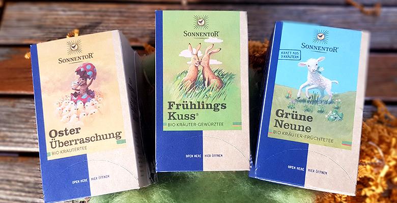 Slider Sonnentor Oster-Tee verschiedene Sorten