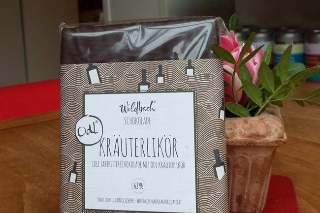 Wildbach Schokolade Kräuterlikör Zartbitter-Tafel